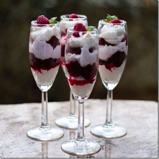 Red Velvet Trifle - square
